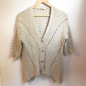 Anthropologie Moth Short Sleeve Knit Cardigan